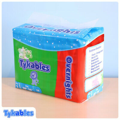 Adult Nappy / Tykables Overnights - Size 1 (Medium) - Half Case - 4 Packs of 10