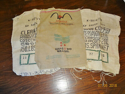 Groovy Lot Of 3 Large Empty Used Coffee Bean Bag Burlap Sacks Pdpeps Interior Chair Design Pdpepsorg