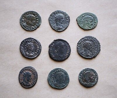 A Lot Of 9 Bronze Imperial Roman Coins. Nice Pieces!