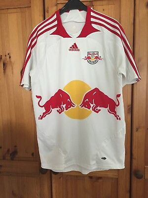 Red Bull Salzburg 2007-08 home shirt adidas soccer jersey size Small