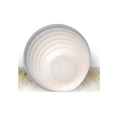 Solid Color Round Shape Planter Pallet Flowerpot Tray for Office Gardon Balcony