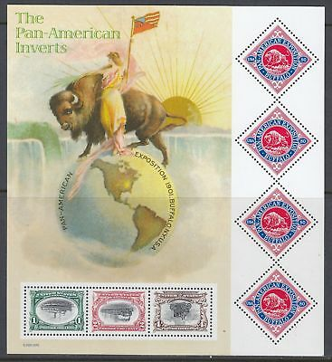 Scott 3505 Pane of 7 MNH - Pan-American Exposition Invert Stamps Cent.