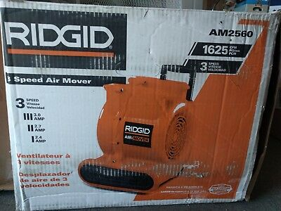 RIDGID AM2560 1625 CFM, 3 speed Heavy Duty Air Mover / Blower / Fan