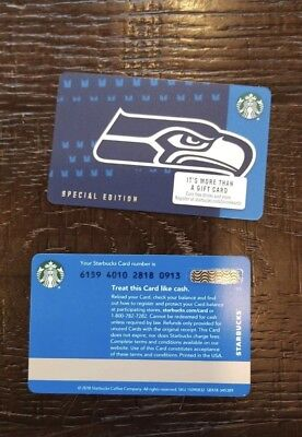 2018 Starbucks SEATTLE SEAHAWKS Gift Card Limited Edition