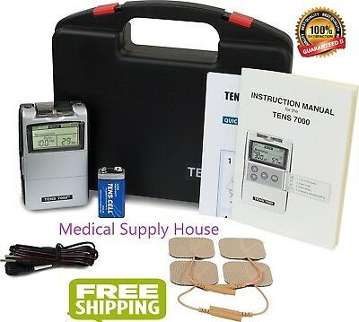 New! Tens 3000 Unit. Battery, Leadwires,& Electrodes Included - 2 Day Free Ship