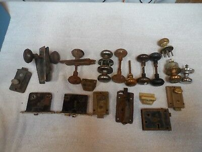 Lot Of 18 Vintage Antique Brass Cast Iron Door Knobs And Hardware Barnfind