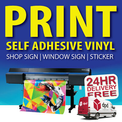 Large format FULL COLOUR DIGITAL PRINT SERVICE outdoor / indoor STICKER PRINTING