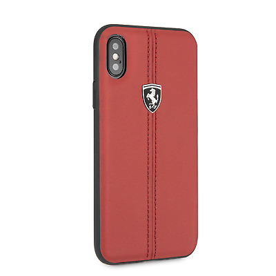 iPhone X FERRARI Hard Case Leather by CG Mobile