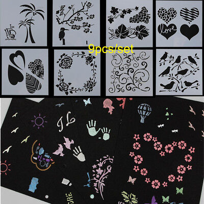 DIY Craft Layering Stencils Embossing Template Scrapbooking Wall Painting