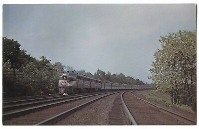 (V152) New York Central Railroad ALCO NE States Train 1974 Vanishing Vistas Card
