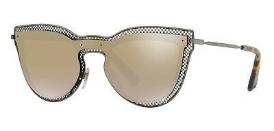 8f7b032e4d VALENTINO VA2018 VA 2018 3005 6E Gunmetal Fashion Cat Eye Sunglasses ...