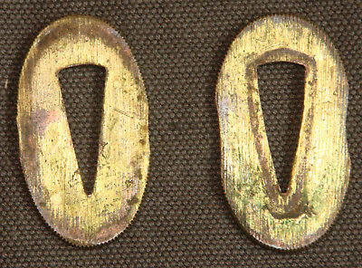 Pair of antique gold-washed seppa for a wakizashi