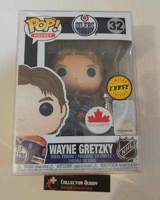 Limited Chase Funko Pop! NHL 32 Wayne Gretzky Oilers w/ Cup Canada Exclusive Pop
