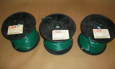3 ROLLS CAROL  MTW 16 AWG  8 Amps  Green  450 ft.   76512.18.06
