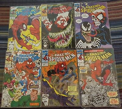 Marvel Comic book lot of 6 The Amazing Spider-Man 345 to 350