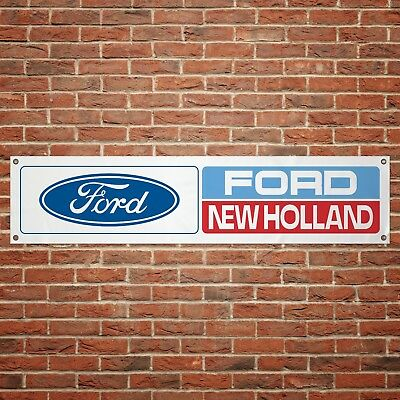 Ford New Holland Banner Garage Workshop PVC Sign Tractor Farming Display