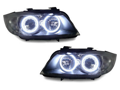 DEPO Factory Seal LED Angel Halo Headlight + Clear Corner For 06-08 BMW E90/E91