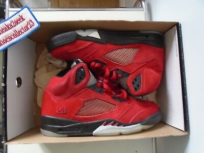 7e17d1cc928c11 AIR JORDAN 5 RETRO DMP Raging Bull Red Half Box Nike 136027 601 Size 10
