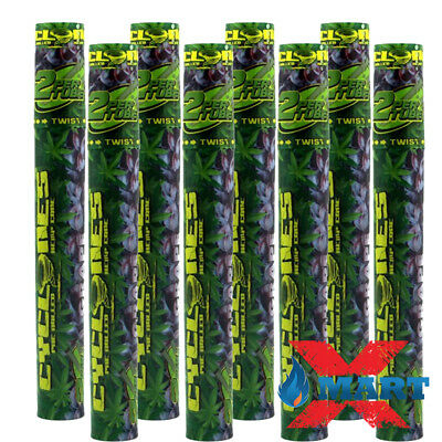 8x Cyclones GRAPE Flavored Pre-Rolled Cone Hemp Wraps Tubes