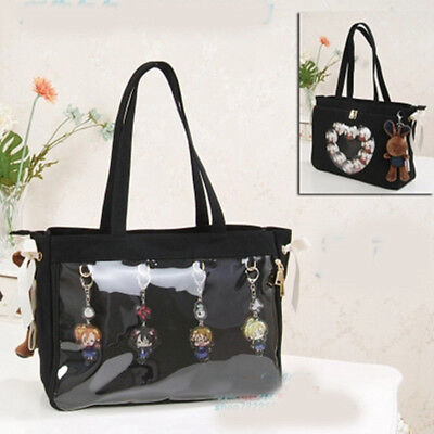 Cute Women Lolita Transparent Heart Shoulder Bag Handbag Micro Bag Itabag Gift