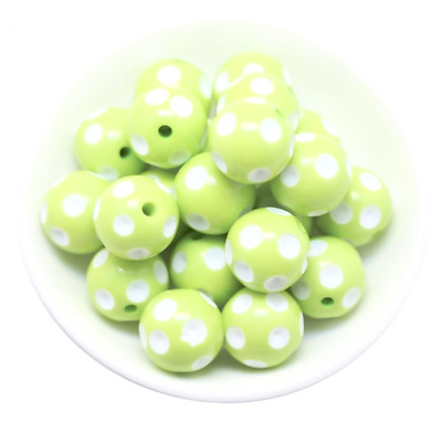 10 pieces 16mm lime green chunky bubblegum beads DIY baby necklaces