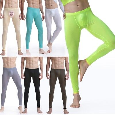 Silk Pants Men Thermal Warm Long Johns Leggings Underwear Baselayer Bottoms Lot