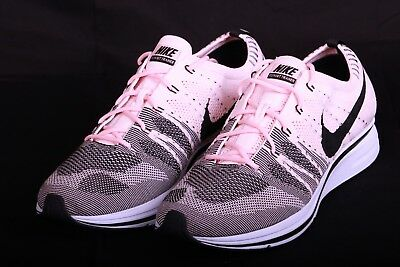 59b39a934050 Nike Men s Flyknit Trainer Sunset Tint Black Pink White AH8396 600 Size 13