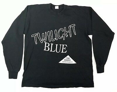 Vintage Twilight Blue The Added Dimension T Shirt XL Fruit Of The Loom 1990s Tee