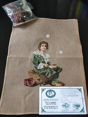 BRAND NEW QUEEN ADELAIDE Trammed TAPESTRY CANVAS & WOOL No. 256/1