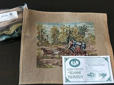 NEW QUEEN ADELAIDE Trammed TAPESTRY CANVAS WOOL 2128