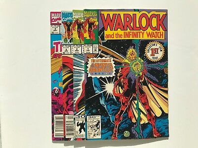 WARLOCK AND THE INFINITY WATCH #1 - 4 INFINITY GAUNTLET AFTERMATH gems 2 3 war