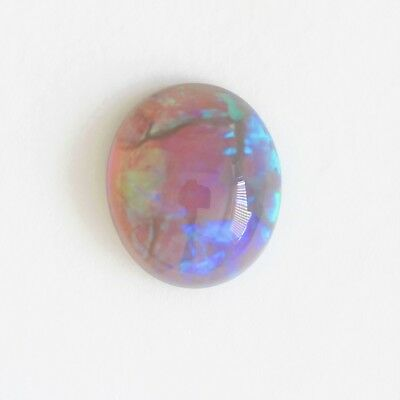 9.9X8.5Mm 1.89Ct Black Crystal Opal Natural Solid Stone Lightning Ridge Cabochon