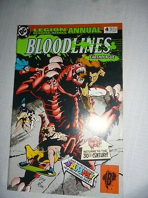 Legion Of Super-Heroes Annual #4 1993 Dc Comics Bloodlines Story Arc Earthplague