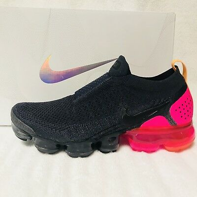 254a6a0b9e69 AUTHENTIC NIKE AIR VAPORMAX FLYKNIT MOC 2 Gridiron Laser Orange Black Womens  7.5