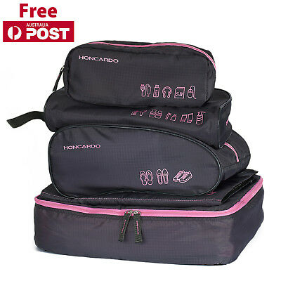 5PCS Travel Luggage Organizer Packing Cube Storage Pouch Shoes Bags WaterResist