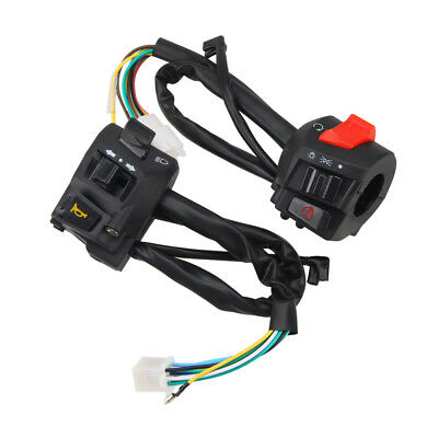 7/8'' Motorcycle Moped Scooter Handlebar Master Control Switches &Wiring Harness