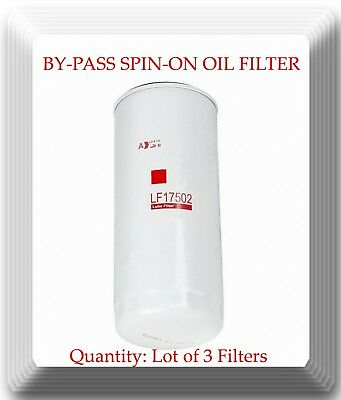 3 x By-Pass Spin-on Filter LF17502 Fits:Mack R.V.I. Volvo Trucks Vans & Penta