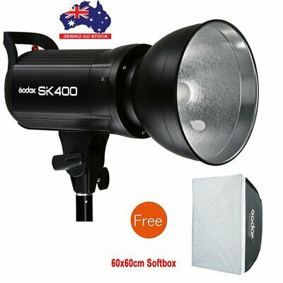 AU Godox SK400 400Ws Studio Flash Strobe Lamp Light Head 220V+60*60 Softbox Gift