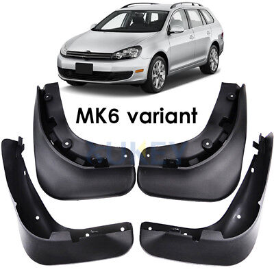 Set Mud Flaps Splashs Guards For VW Jetta Sportwagen Golf MK6 Variant 10-14
