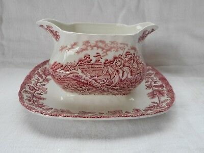 Vintage Myotts Country Life Fused Double Spouted Sauce/gravy Boat