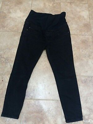 New Look Maternity Emilee Over Bump Jeggings Size 12 Black
