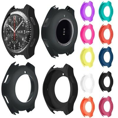 Luxury Silicone Soft Strap Watch Band Case Cover For Samsung Gear S3 Frontier
