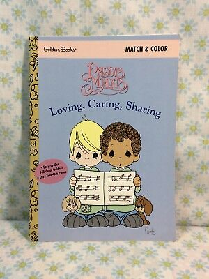 Vtg Precious Moments Coloring Book 1997 New Unused 90s March And Color Golden