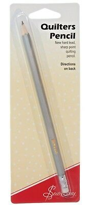 Sew Easy Silver Quilters Pencil - Hard Lead Pencil Sharpens To Fine Point Bnew