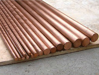 2pcs  99.9% Pure Copper Cu Metal Rods Cylinder Diameter 5mm, Length 200mm # GY