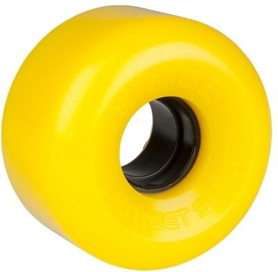 "SIMS ""Street Snake"" Rollerskate Wheels x8 YELLOW fit Bauer Roller Derby Outdoor"