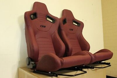 2 x CRM GT1 Seats in Red. Recaro style. Red Stitching. ADR Approved