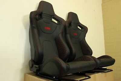 2 x CRM GT1 series, Red stitching. Recaro style. . ADR Approved
