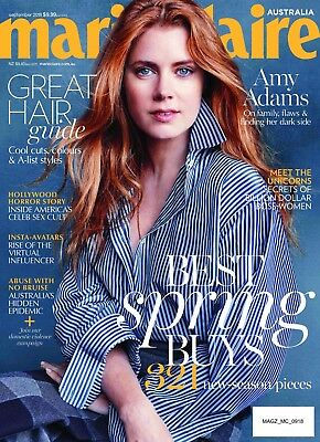 Marie Claire Australia Magazine September 2018 - Amy Adams, Great Hair Guide
