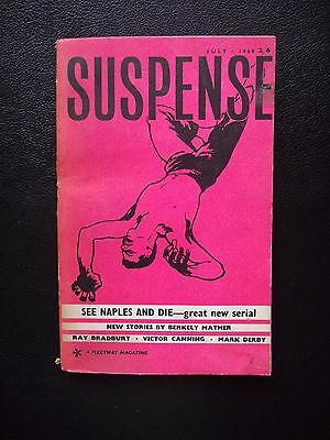 Suspense Magazine July 1960 Ray Bradbury Berkley Mather Victor Canning